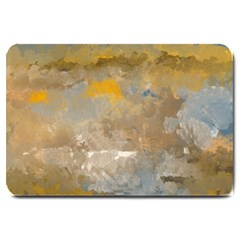Sunset In The Mountains Large Doormat  by digitaldivadesigns