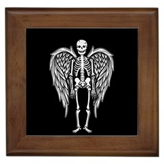 Angel Skeleton Framed Tiles by Valentinaart