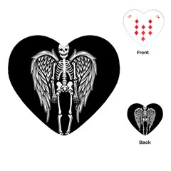 Angel Skeleton Playing Cards (heart)  by Valentinaart