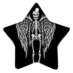 Angel Skeleton Star Ornament (two Sides) by Valentinaart