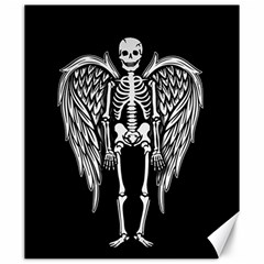 Angel Skeleton Canvas 20  X 24   by Valentinaart