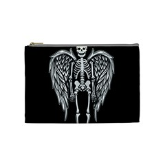 Angel Skeleton Cosmetic Bag (medium)  by Valentinaart