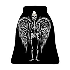 Angel Skeleton Bell Ornament (two Sides) by Valentinaart