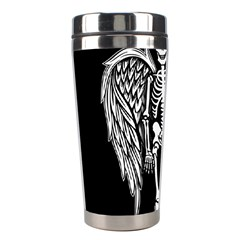 Angel Skeleton Stainless Steel Travel Tumblers by Valentinaart