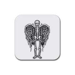 Angel Skeleton Rubber Square Coaster (4 Pack)  by Valentinaart