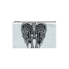 Angel Skeleton Cosmetic Bag (small)  by Valentinaart