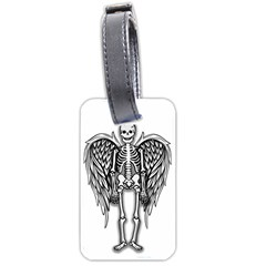 Angel Skeleton Luggage Tags (one Side)  by Valentinaart