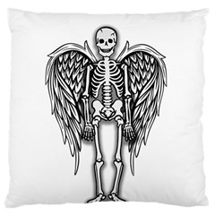 Angel Skeleton Large Cushion Case (two Sides) by Valentinaart