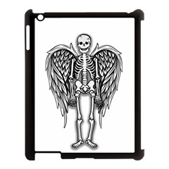 Angel Skeleton Apple Ipad 3/4 Case (black) by Valentinaart