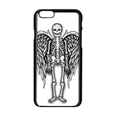 Angel Skeleton Apple Iphone 6/6s Black Enamel Case by Valentinaart