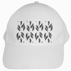 Feather Pattern White Cap by Valentinaart
