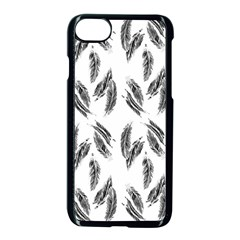 Feather Pattern Apple Iphone 7 Seamless Case (black) by Valentinaart