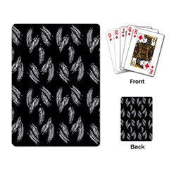 Feather Pattern Playing Card by Valentinaart