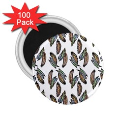Feather Pattern 2 25  Magnets (100 Pack)  by Valentinaart