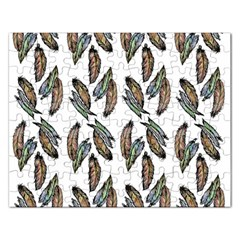Feather Pattern Rectangular Jigsaw Puzzl