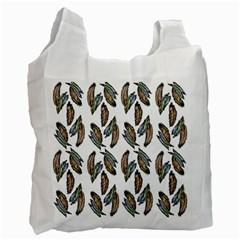 Feather Pattern Recycle Bag (one Side) by Valentinaart