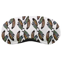 Feather Pattern Sleeping Masks by Valentinaart