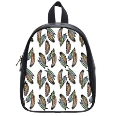 Feather Pattern School Bag (small) by Valentinaart
