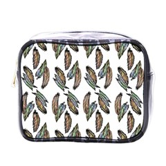 Feather Pattern Mini Toiletries Bags by Valentinaart