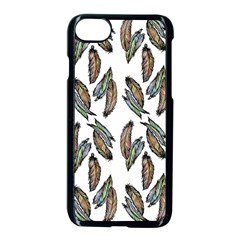 Feather Pattern Apple Iphone 7 Seamless Case (black)