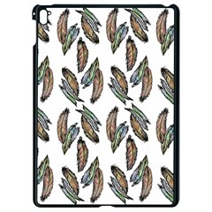 Feather Pattern Apple Ipad Pro 9 7   Black Seamless Case by Valentinaart
