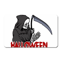 Death   Halloween Magnet (rectangular) by Valentinaart