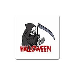 Death   Halloween Square Magnet by Valentinaart