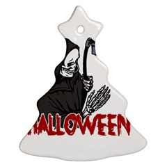 Death   Halloween Christmas Tree Ornament (two Sides) by Valentinaart