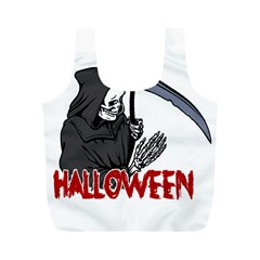Death   Halloween Full Print Recycle Bags (m)  by Valentinaart