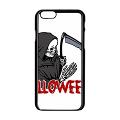 Death   Halloween Apple Iphone 6/6s Black Enamel Case