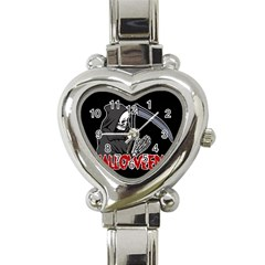 Death   Halloween Heart Italian Charm Watch