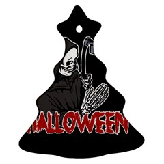 Death   Halloween Christmas Tree Ornament (two Sides)