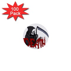Death   Halloween 1  Mini Buttons (100 Pack)  by Valentinaart