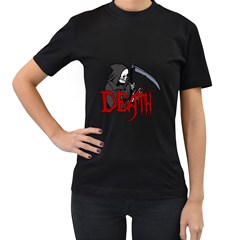 Death   Halloween Women s T Shirt (black) (two Sided) by Valentinaart