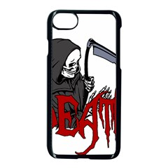 Death   Halloween Apple Iphone 7 Seamless Case (black) by Valentinaart