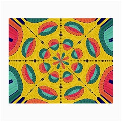 Textured Tropical Mandala Small Glasses Cloth (2 Side) by linceazul