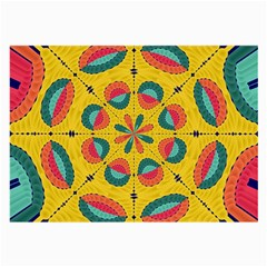 Textured Tropical Mandala Large Glasses Cloth (2 Side) by linceazul