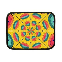 Textured Tropical Mandala Netbook Case (small)  by linceazul