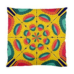 Textured Tropical Mandala Standard Cushion Case (one Side) by linceazul