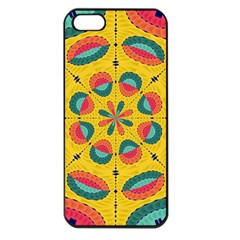 Textured Tropical Mandala Apple Iphone 5 Seamless Case (black) by linceazul