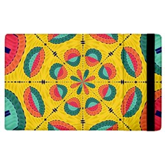 Textured Tropical Mandala Apple Ipad 2 Flip Case by linceazul