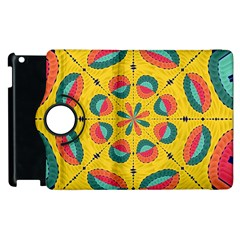 Textured Tropical Mandala Apple Ipad 2 Flip 360 Case by linceazul