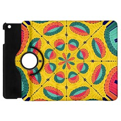 Textured Tropical Mandala Apple Ipad Mini Flip 360 Case