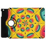 Textured Tropical Mandala Apple iPad Mini Flip 360 Case Front