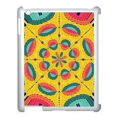Textured Tropical Mandala Apple Ipad 3/4 Case (white) by linceazul