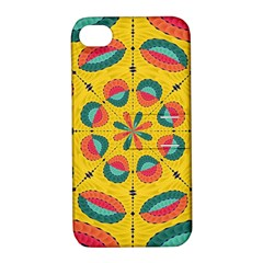 Textured Tropical Mandala Apple Iphone 4/4s Hardshell Case With Stand by linceazul