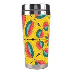 Textured Tropical Mandala Stainless Steel Travel Tumblers by linceazul