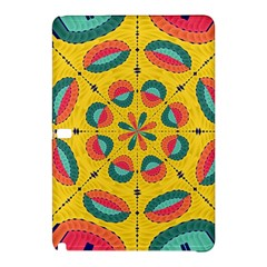 Textured Tropical Mandala Samsung Galaxy Tab Pro 12 2 Hardshell Case by linceazul