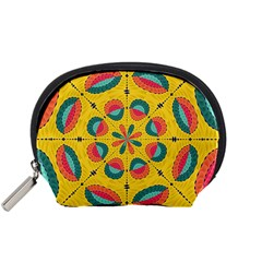 Textured Tropical Mandala Accessory Pouches (small)  by linceazul