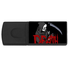 Death   Halloween Rectangular Usb Flash Drive by Valentinaart